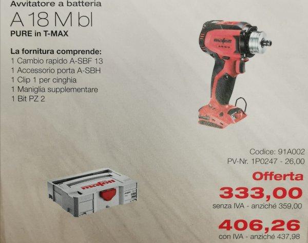 A 18 M BL utensil legno promo