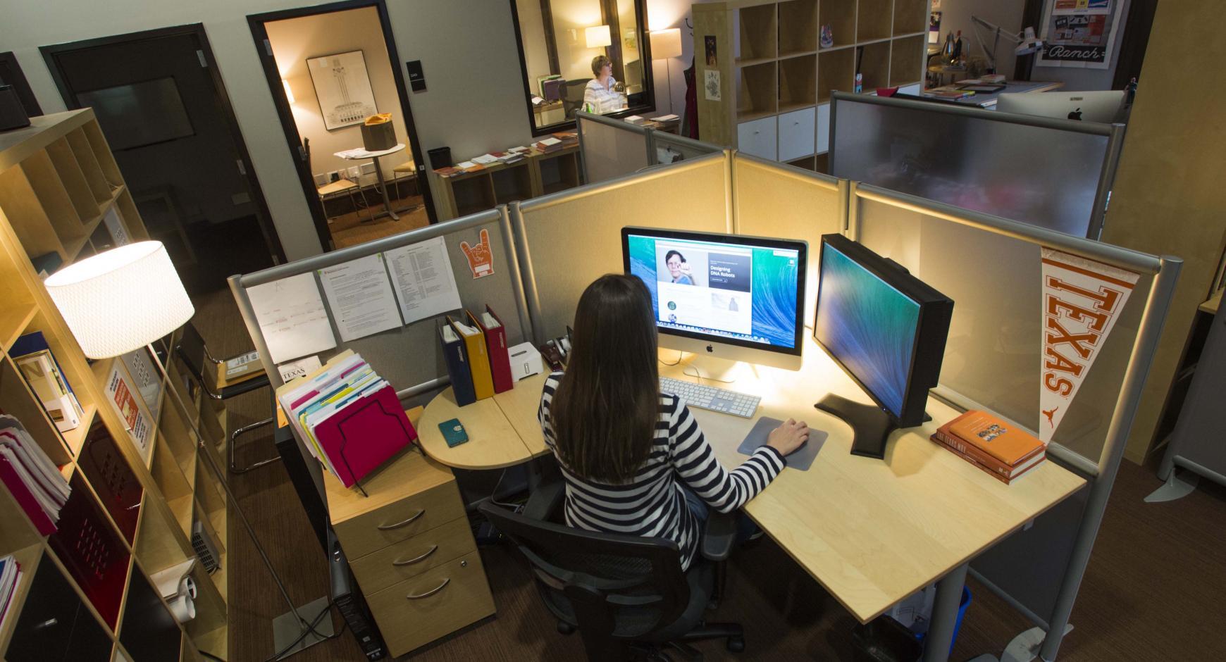 Jobs. Staff Member Sitting At Desk