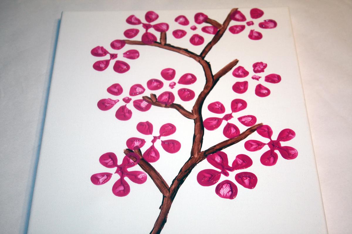 Cherry Blossom Craft Utica Public Library