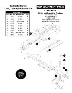 Stanley Hydraulic Tool Seal Kits