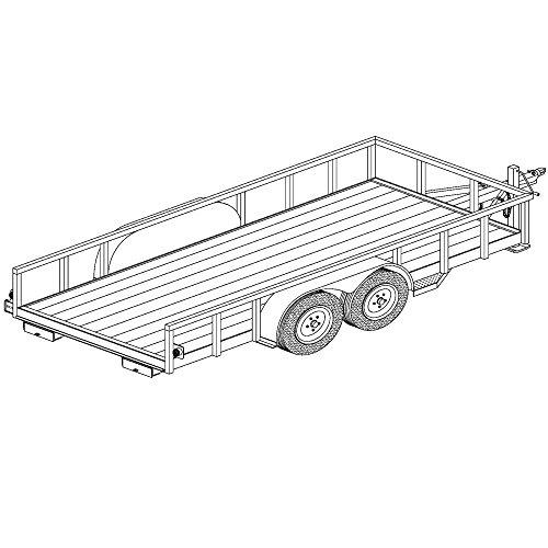 6′ x 14′ Lowboy Trailer Plans Blueprints, Model 1214