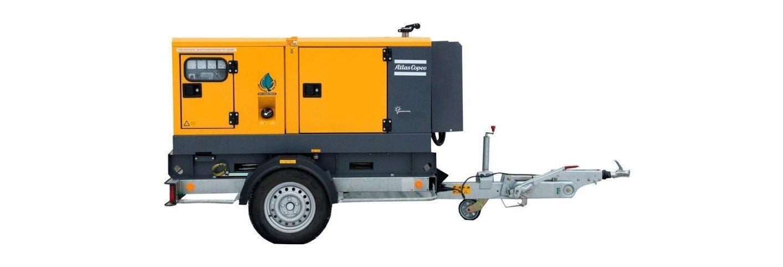 Atlas Copco dieselaggregat til utleie