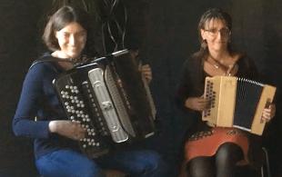 Géraldine et Sophie à l'accordéon - Utopaille
