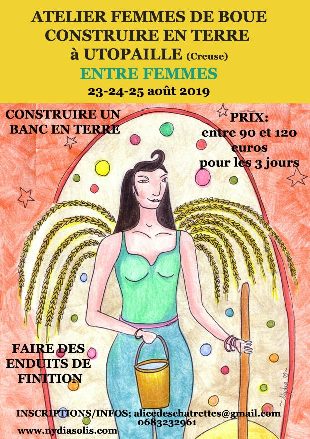 Affiche atelier Femmes de boue à Utopaille