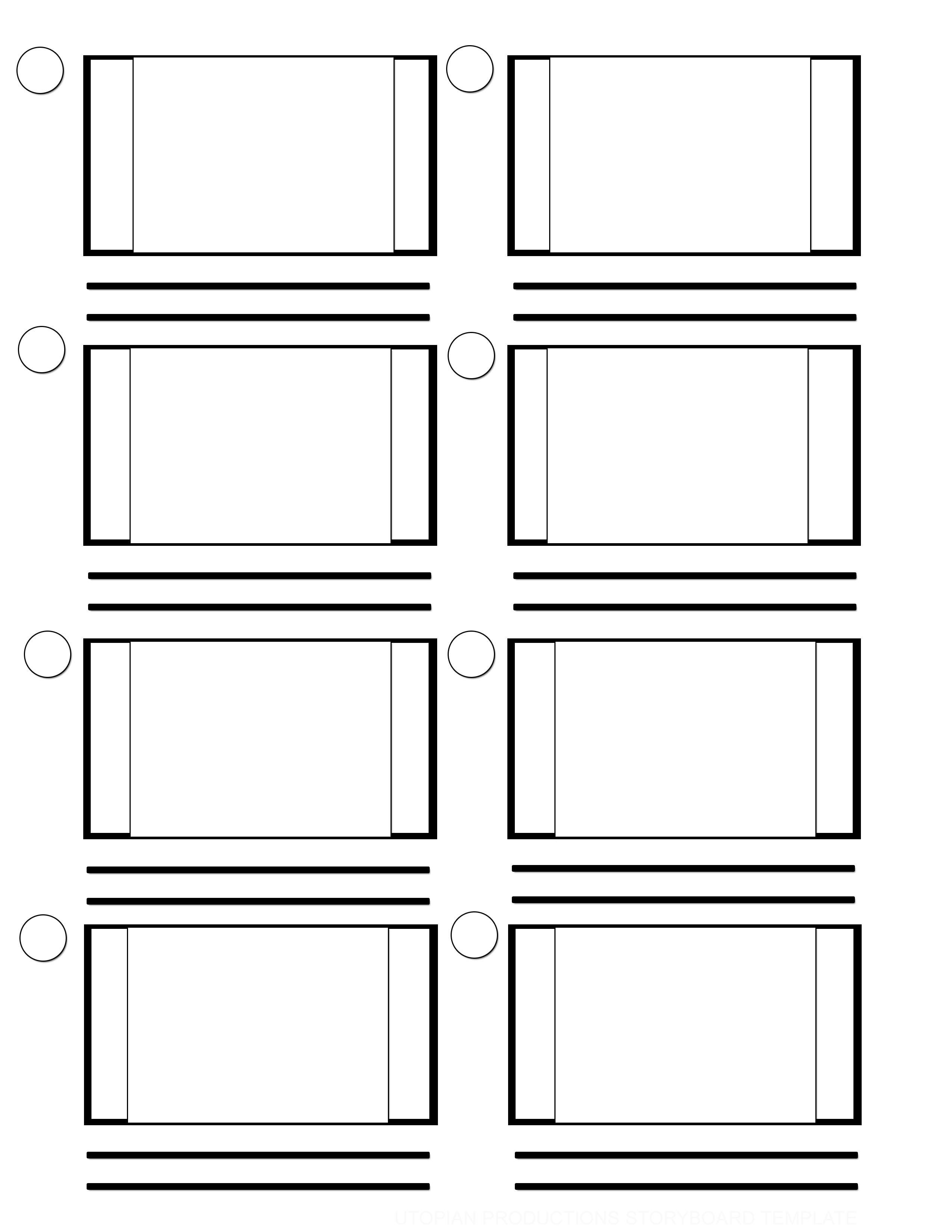 Full Frame Storyboard Template
