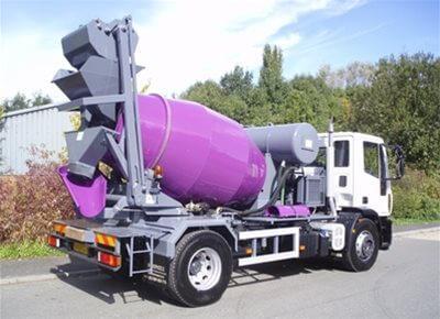 self loading concrete truck