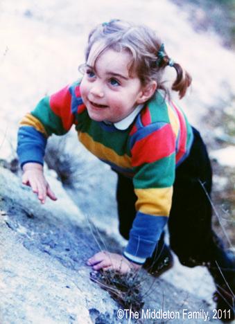 Kate Middletone kao mala