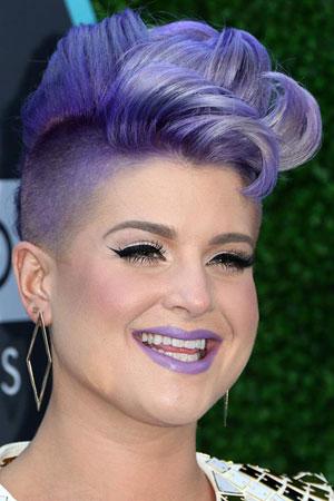 Kelly Osbourne – Ljubičasta lažna mohikana frizura