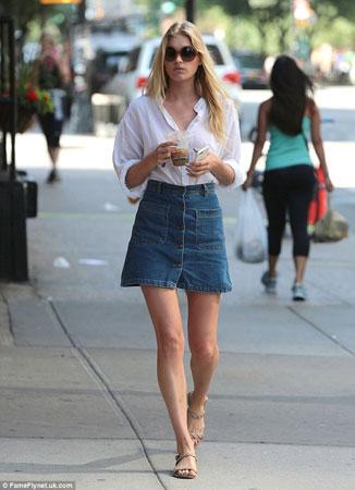 bela kosulja teksas suknja