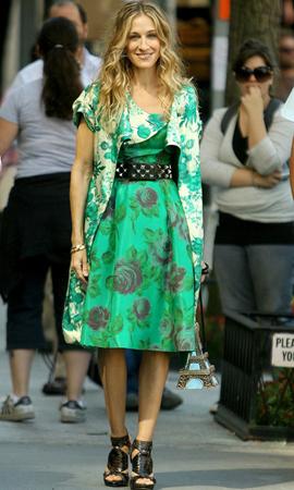 haljina sa zelenim cvetnim printom