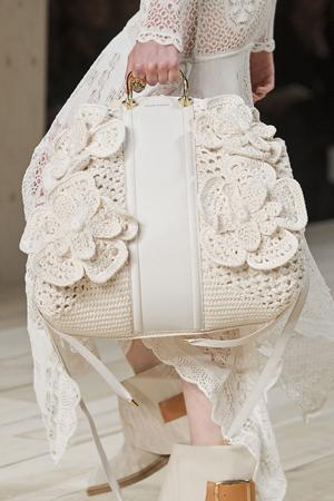 bela štrikana torba