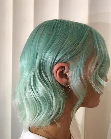 Boje kose za 2020 - Mint zelena boja kose