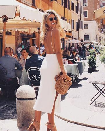 seksi bela haljina sa golim ledjima