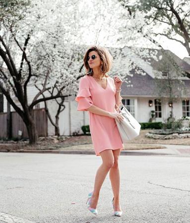 boje za leto - koralno pink haljina