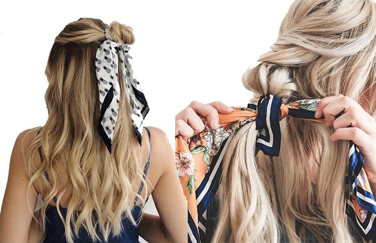 Frizure sa maramom za kosu