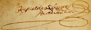 Firma de Cervantes en Utrera