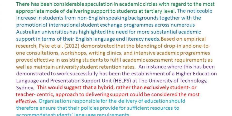 Paragraph Level Writing University Of Technology Sydney