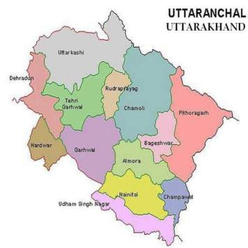 Image result for uttarakhand political map