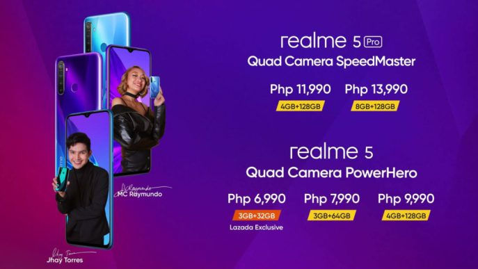 realme 5 and 5 Pro Pricing and Availability