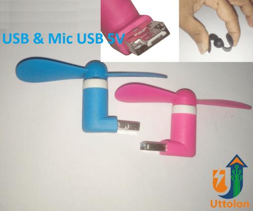 Mini USB and Mic USB Portable Fan