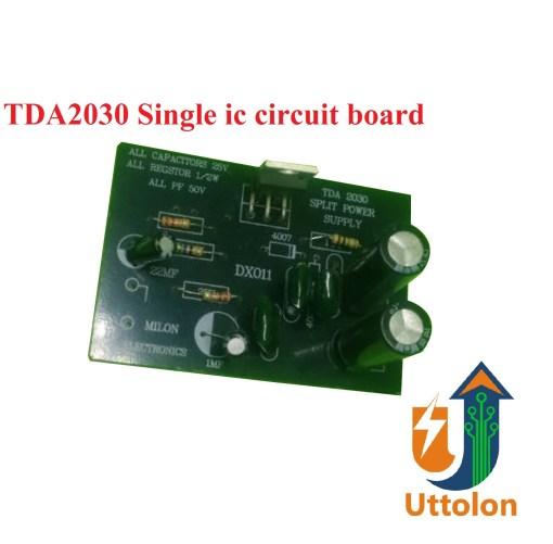 TDA2030 single ic circuit board uttolon