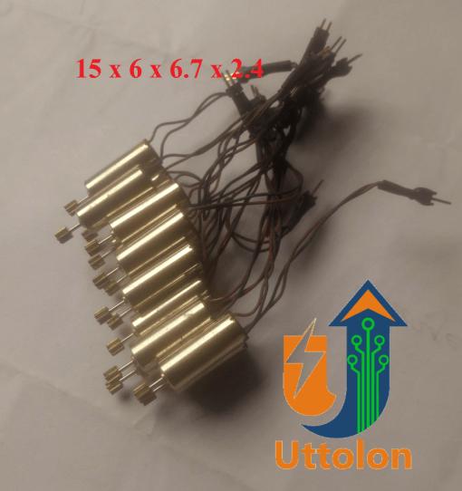 Coreless Motor With Gear 3.7V uttolon
