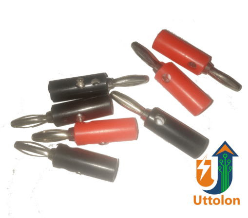 Banana Plugs Connector Jack Screw type Black and Red Color uttolon bd.com