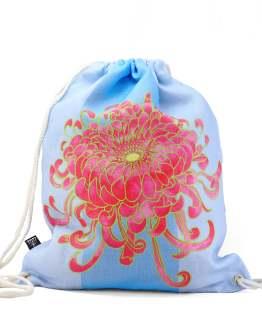 Kikukka Fuchsia Drawstring Bag