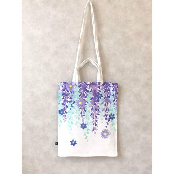 Fuji Lila linen tote bag