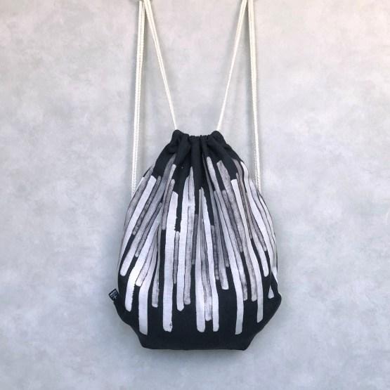 Hongikko Black Drawstring Bag