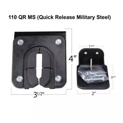 110 QR Military Grade Steel Plate Gun Rack