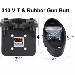 310VT Vehicle Transport Gun Rack and Rubber Gun Butt