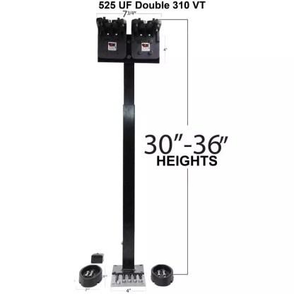 525 Universal Floor Mount with dual 310 VT Gun Racks with Rubber Gun Butts