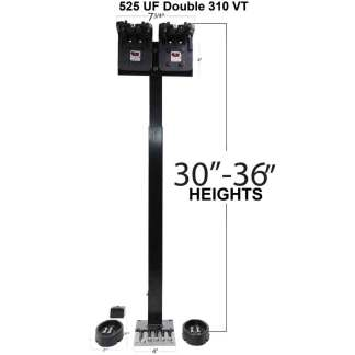 525 Universal Floor Mount with dual 310 VT Gun Racks with Rubber Gun Butts