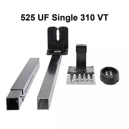 525UF Universal Floor Mount Single Gun Rack with Rubber Butt