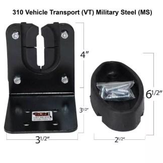 310VT Military Grade Steel Gun Rack with Rubber Gun Butt