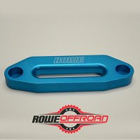 "Anodized Aluminum Hawse Fairlead for Synthetic Winch Rope 4 7/8"" (ATV UTV) (Blue (Turquoise))"