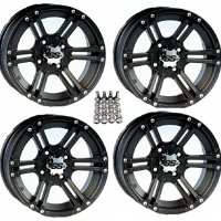 "ITP SS212 ATV Wheels/Rims Black 14"" Arctic Cat TBX MudPro Wildcat (4)"