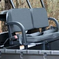 Polaris Ranger 1000 2016 General Deluxe UTV Rumble Seat Black (back seat) by Great Day