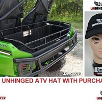 Bundle 2 items: Super ATV Kawasaki Teryx 4 750 / 800 Cargo Rack/ box / carrier and FREE Unhinged ATV Hat!
