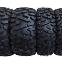 Set of 4 WANDA ATV/UTV Tires 25X8-12 25X10-12 for 2004-2013 YAMAHA RHINO 450 660 700