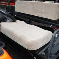 Durafit Seat Covers Kubota RTV 1100 Gray Velour Seat Covers