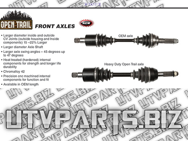 Open Trail HD Axle Polaris Ranger 800