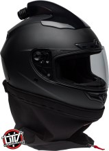Bell qualifier dlx forced air side by side helmet matte black neck front right