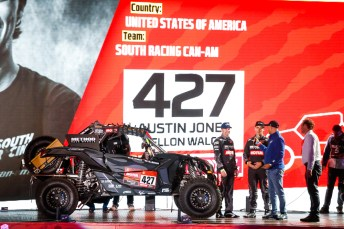 #427 Austin Jones (usa), Kellon Walch (usa), Can-Am, South Racing Can-AM, SSV, action during the departure ceremony of the 2020 Dakar in Jeddah, Saudi Arabia on January 4, 2020 - Photo Julien Delfosse / DPPI