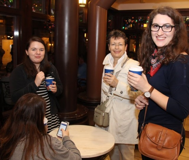Union Group Members Enjoy Hot Chocolate Drinks On A Cool Evening At The Ghirardelli Store In