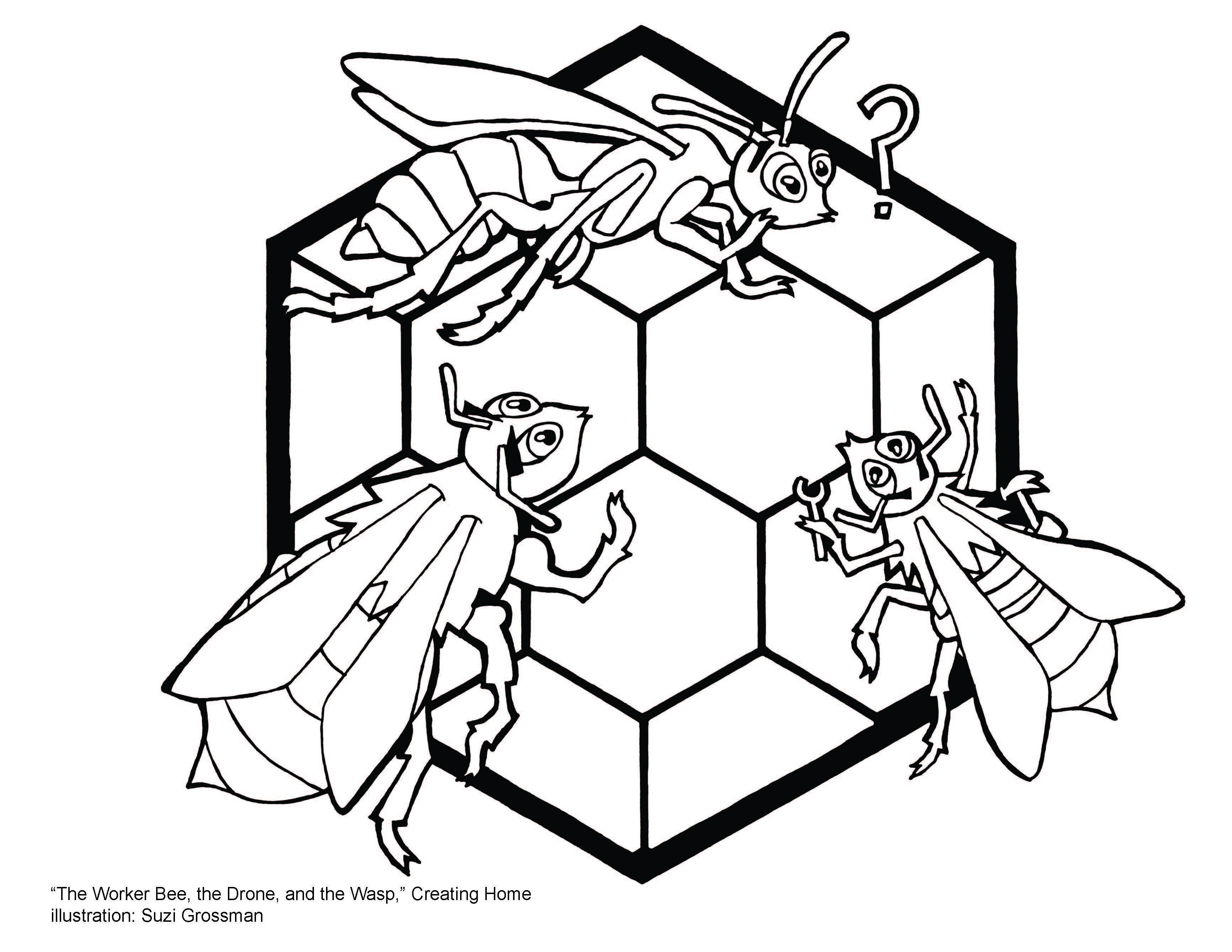 Aesop's Fable of the Worker Bee, the Drone, and the Wasp