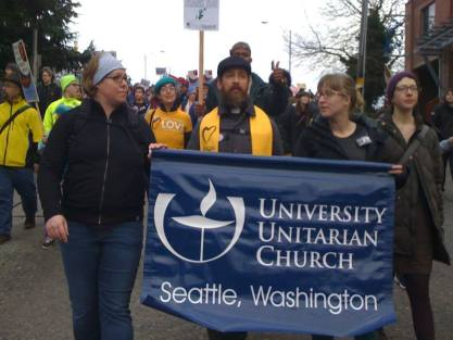 MLK March 2015 - with UUC banner