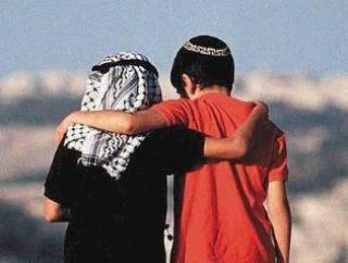Two boys - Palestinian and Israeli