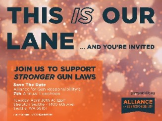 This IS Our Lane - and you_re invited. Join us to support stronger gun laws - Alliance for Gun Responsibility